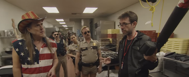 """Weird Al"" Yankovic as Ted Nugent on Reno 911! - SCREEN GRAB/YOUTUBE"