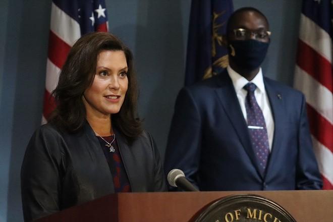 Gov. Gretchen Whitmer at a recent press conference. - GOV. GRETCHEN WHITMER'S OFFICE