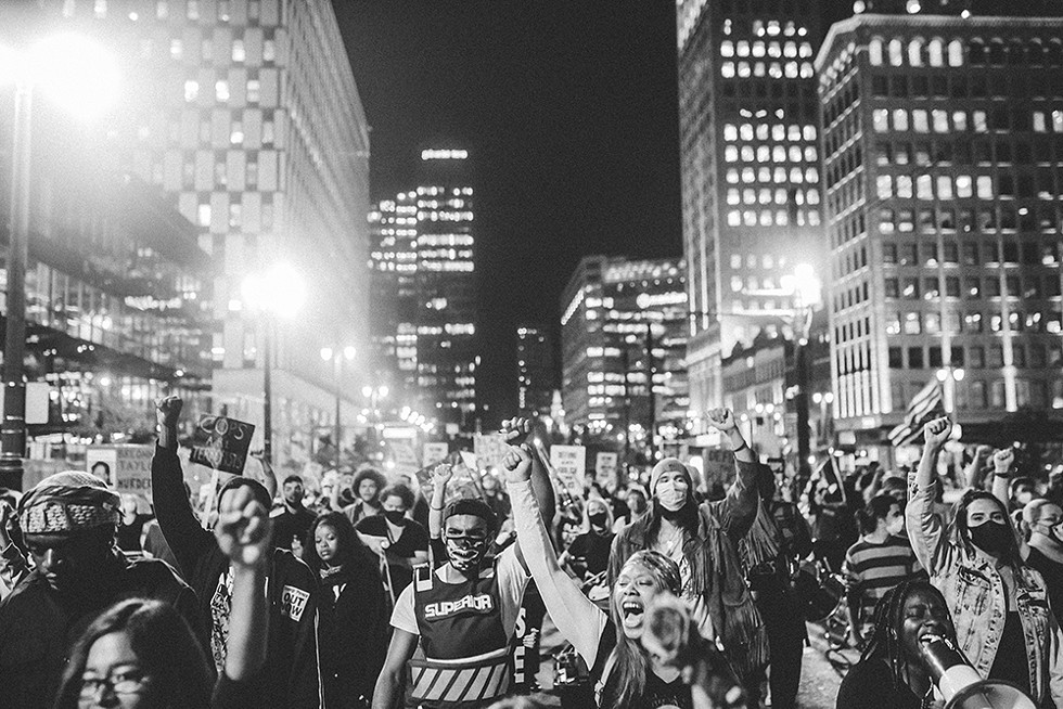 Police brutality protesters, lead by activist group Detroit Will Breathe, have been marching in the streets of the Motor City for more than 100 days. - MARC KLOCKOW