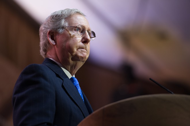 Mitch McConnell. - CHRISTOPHER HALLORAN