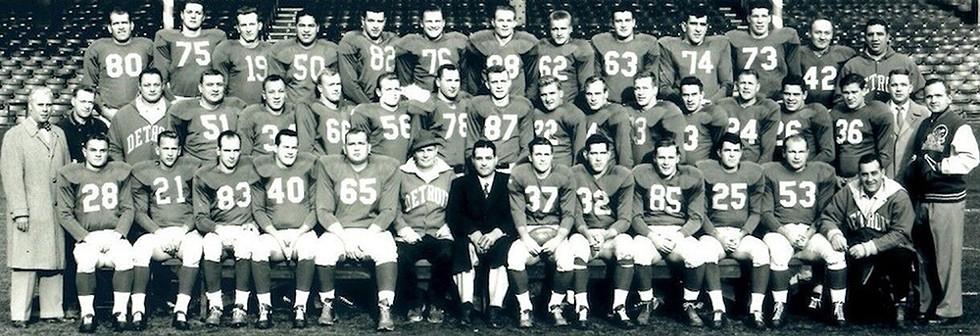 The 1953 Detroit Lions. - COURTESY PHOTO