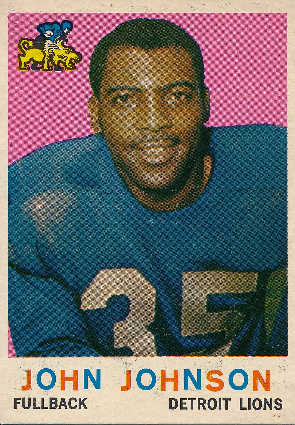 John Henry Johnson joined the Lions in 1957. - COURTESY PHOTO