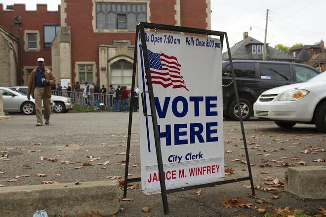 Polling station in Detroit. - STEVE NEAVLING