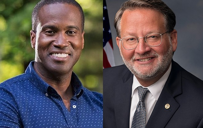 Republican Senate hopeful John James, left, and Democratic Sen. Gary Peters. - JOHN JAMES CAMPAIGN, U.S. SENATE