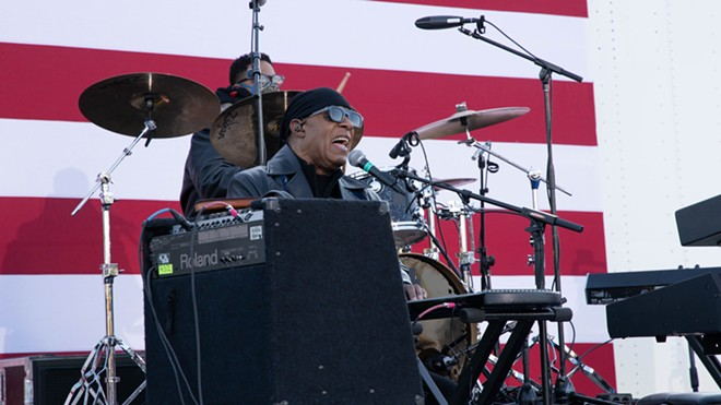 Stevie Wonder performed during a rally for Joe Biden on Detroit's Belle Isle. - DEDAN PHOTOGRAPHY / SHUTTERSTOCK.COM