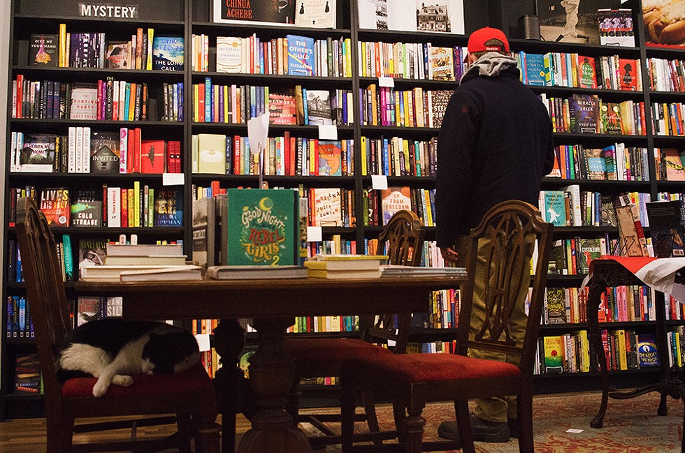 This bookstore in Detroit's historic Grandmont-Rosedale neighborhood boasts a care-fully curated collection of books from and about Detroit, and frequently hosts intimate readings from nationally acclaimed authors. Though the Pages staff, including top sales cat Pip, are working to fulfill online-only orders as the store is closed, Pages' site offers staff suggestions, like Monogamy by Sue Miller and Punching the Air by Ibi Zoboi and Yusef Salaam. Thanks, Pip! - COURTESY OF PAGES BOOKSHOP