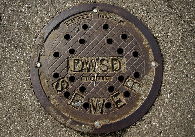 Detroit Water and Sewerage Department manhole. - STEVE NEAVLING