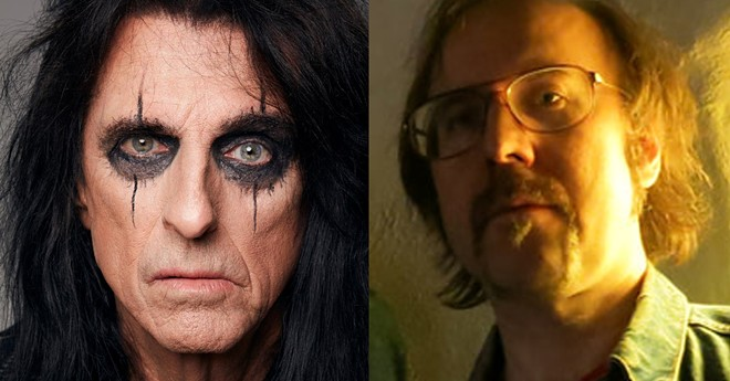 Alice Cooper, left, covered a song by Matthew Smith's (right) band Outrageous Cherry. - JENNY RISHER, CARY LOREN