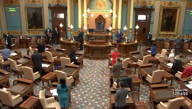 Michigan's Electoral College casts votes for President-elect Joe Biden. - MICHIGAN SENATE