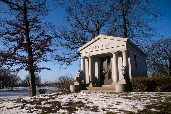 Carhartt Mausoleum at Woodmere Cemetery. - STEVE NEAVLING