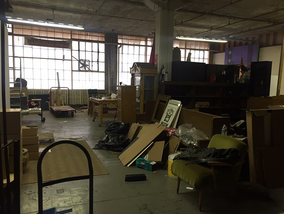 Artist Mark Arminski's Russell Industrial Center studio prepares for closure. - VIOLET IKONOMOVA