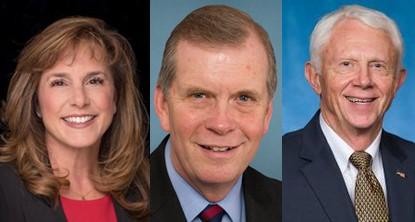 From left, Reps. Lisa McClain, Tim Walberg, and Jack Bergman. - U.S. CONGRESS