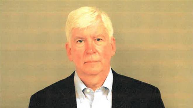 Mugshot of former Governor Rick Snyder. - GENESEE COUNTY JAIL
