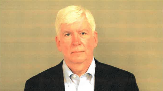 Mugshot of former Governor Rick Snyder. - GENESEE COUNTY JAIL