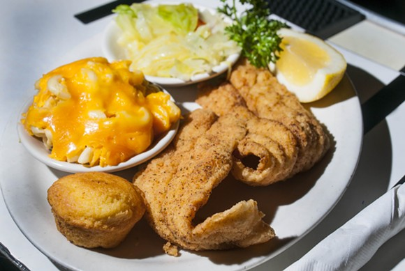 Fried Catfish Dinner at Baker's. - PHOTO BY TOM PERKINS