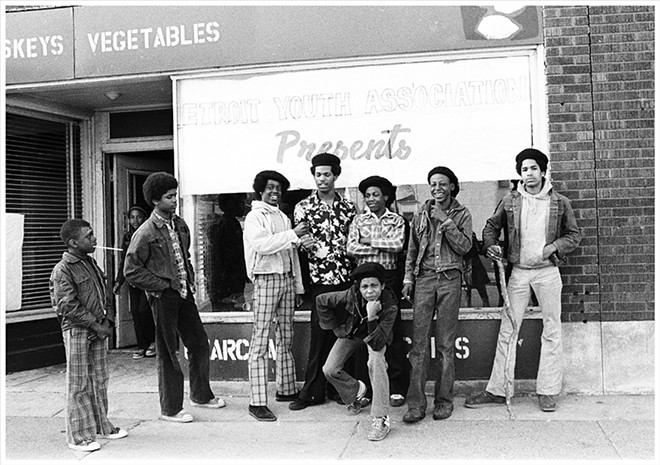 Detroit Youth Association, B&W photograph, undated. - PHOTO BY LENI SINCLAIR, COURTESY OF MOCAD