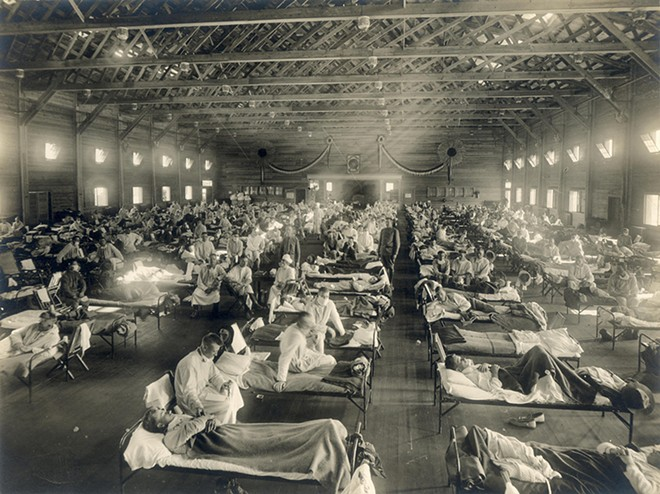 A hospital in Kansas during the Spanish flu epidemic in 1918. - OTIS HISTORICAL ARCHIVES, NATIONAL MUSEUM OF HEALTH AND MEDICINE
