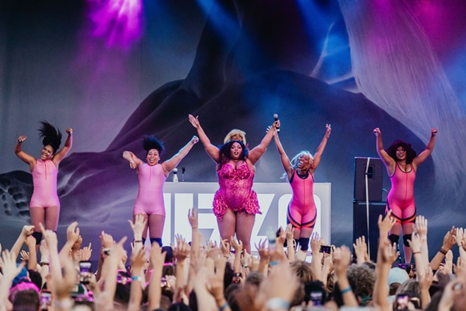 Detroit's Lizzo performing at the 2019 Mo Pop Festival. - COURTESY OF MO POP