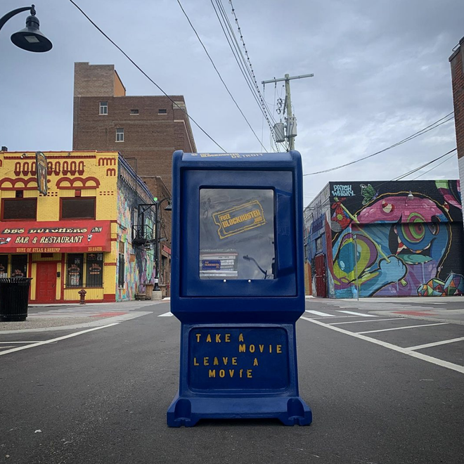 Detroit's Free Blockbuster box in Eastern Market is open for business. - COURTESY OF FREE BLOCKBUSTER DETROIT