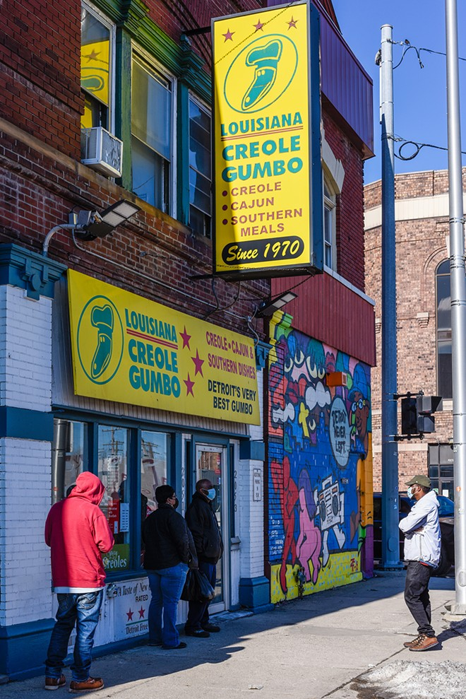 Louisiana Creole Gumbo's original Eastern Market location at 2051 Gratiot in Detroit has been in business since 1970. - KELLEY O'NEILL