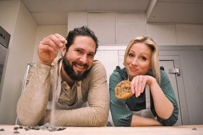 Promenade Artisan Foods owners Chelsie and Jono Brymer show off their goods ... baked goods, that is. - COURTESY OF PROMENADE ARTISAN FOODS.