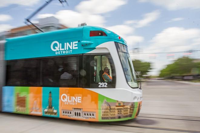 One of Detroit's QLine streetcars. - STEVE NEAVLING