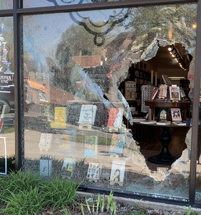 Detroit's Pages Bookshop ravaged by gunfire Monday morning. - PAGES BOOKSHOP/INSTAGRAM