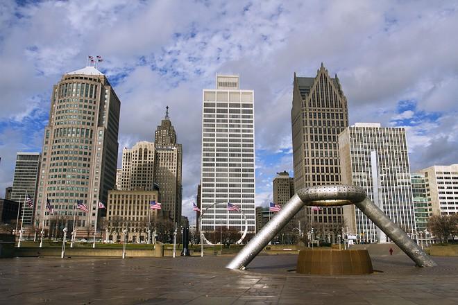 Hart Plaza in downtown Detroit. - STEVE NEAVLING