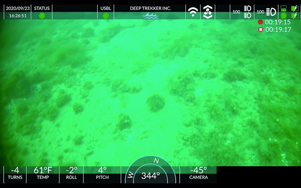 Underwater images from near the Line 5 pipeline appear to show a circle of stones that could be part of a 10,000-year-old cultural site. - COURTESY PHOTO