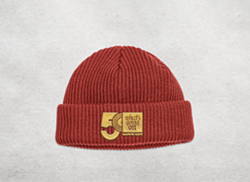 A 50th-anniversary beanie as part of Motown Museum's Marvin Gaye collection, released Friday. - COURTESY OF THE MOTOWN MUSEUM