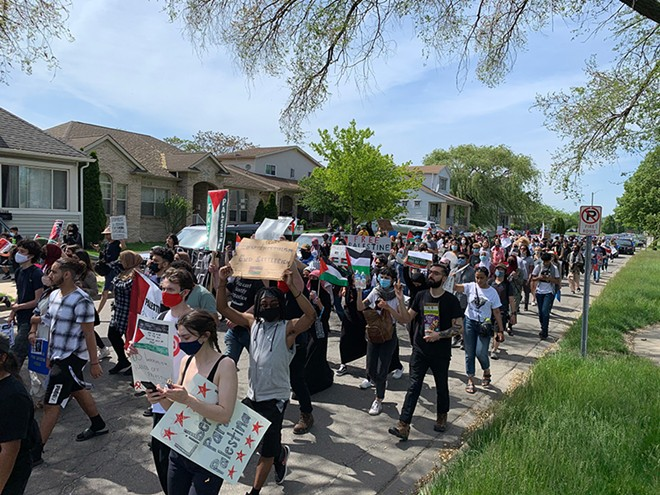 Thousands marched in Dearborn earlier this week in support of Palestine. - SEAN TAORMINA