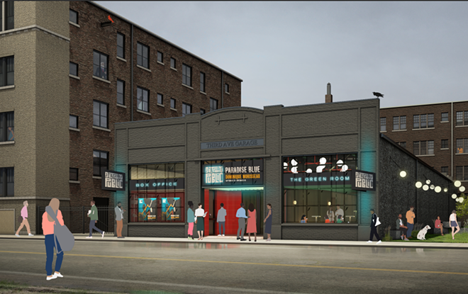 A rendering of the upcoming Detroit Public Theatre space. - DASH MARSHALL