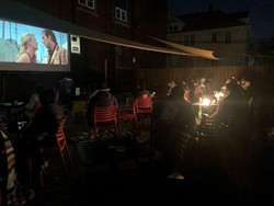 'Wild at Heart' on the patio at Hamtramck's microcinema. - COURTESY OF THE FILM LAB