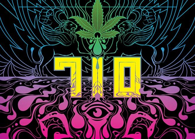 "Happy 710 Day, stoners. (It's ""OIL"" upside down... get it?) - DELICIOUS DESIGN LEAGUE"