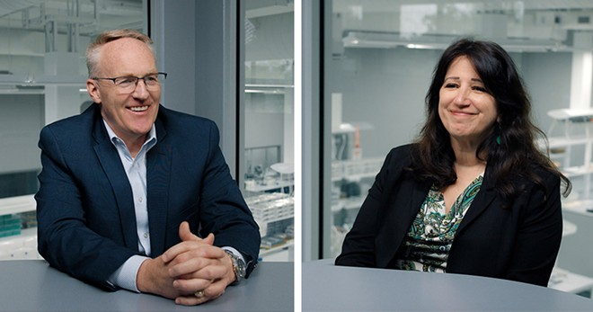 Todd Welch, left, and Dr. Michele Glinn. - COURTESY PHOTOS
