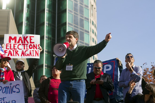 Former state Sen. Patrick Colbeck, a prominent conspiracy theorist, often speaks at local GOP events. - STEVE NEAVLING