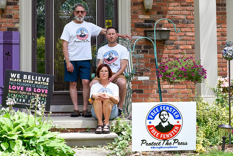 """The Fensters and Danny's supporters launched a website where people can buy """"Free Fenster"""" shirts. Bryan says Danny will decide where all proceeds will go once he's released. - KELLEY O'NEILL"""