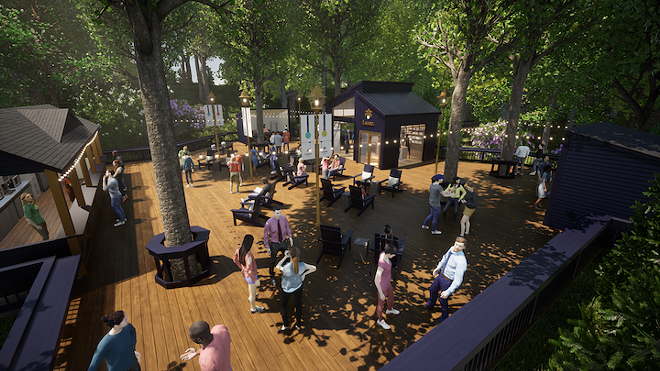 """A rendering of cannabis company Lume's branded """"treehouse"""" at DTE Energy Music Theatre. - COURTESY OF LUME"""