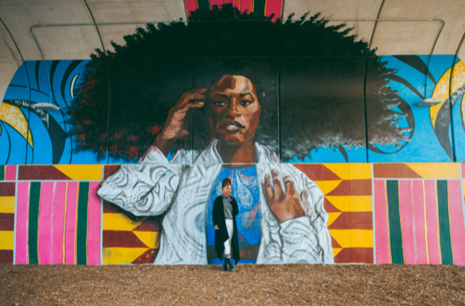 BLKOUT Walls Mural Festival to take place July 24-31; work by Sydney G. James. - COURTESY OF BLKOUT WALLS MURAL FESTIVAL