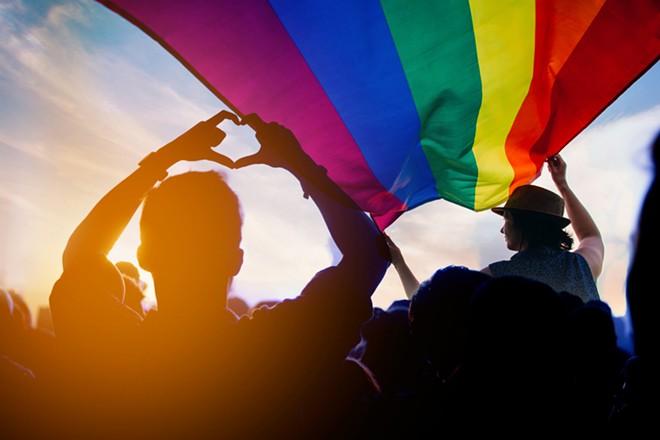 LGBTQ flag. - SHUTTERSTOCK.COM