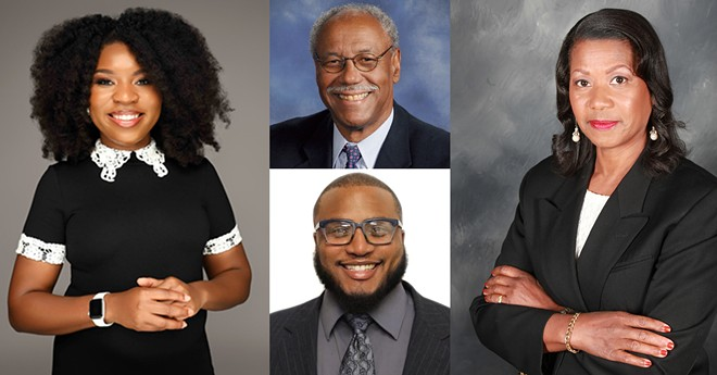 Some of the candidates running against incumbent Detroit Mayor Mike Duggan. - COURTESY PHOTOS