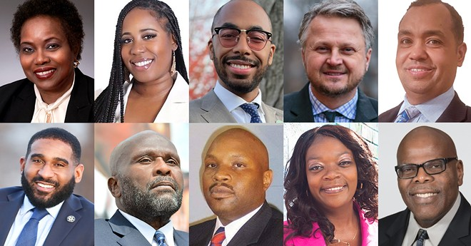 Some of the candidates in Detroit's highly competitive City Council race. - COURTESY PHOTOS