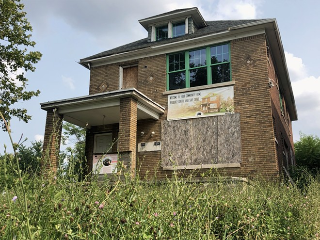 """Wayne County recently foreclosed on Detroit's """"Motown Movement"""" house after it fell behind in taxes. - STEVE NEAVLING"""