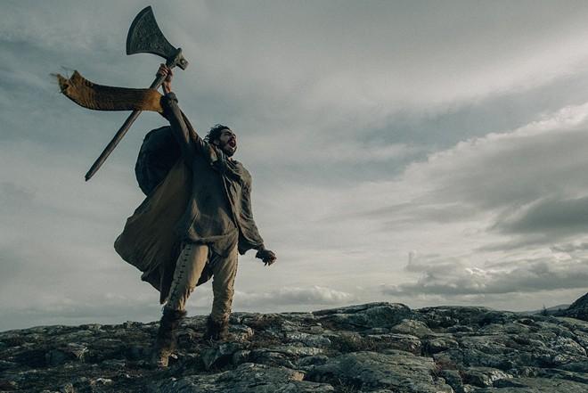 Dev Patel stars as Gawain, nephew to King Arthur.  - A24