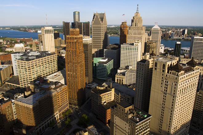 Downtown Detroit from the top of Book Tower. - STEVE NEAVLING