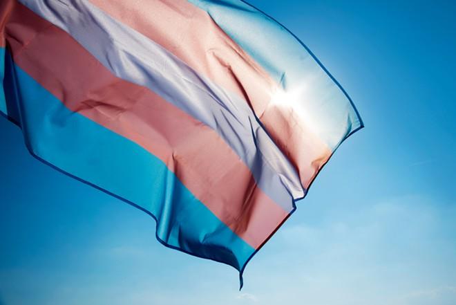The transgender pride flag. - SHUTTERSTOCK