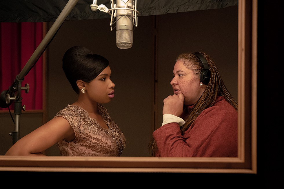 Actor Jennifer Hudson and director Liesl Tommy on the set of Respect.  - QUANTRELL D. COLBERT/MGM PICTURES