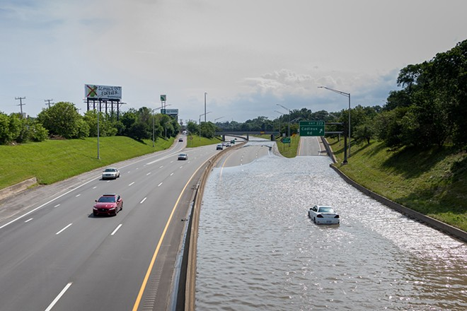 Detroit's flooding this summer were one of the many catastrophes caused by climate change.  - RUSTY YOUNG