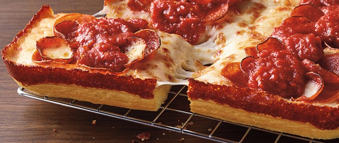 """Pizza Hut debuted a """"Detroit-style"""" pizza earlier this year. - COURTESY OF PIZZA HUT"""