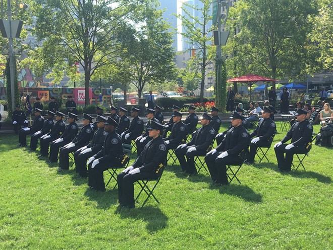 Ceremony for graduating Class 2021-H in Detroit. - DETROIT POLICE DEPARTMENT
